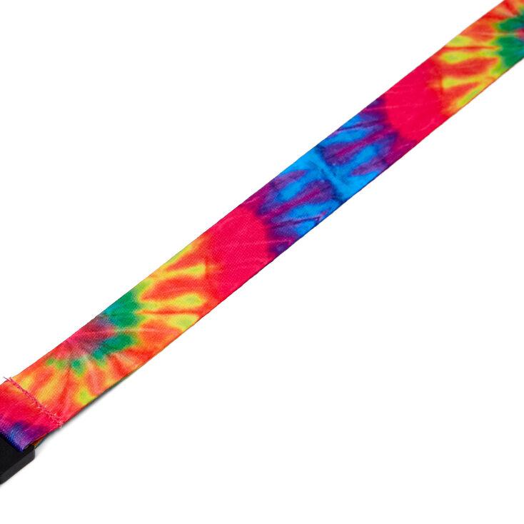 Rainbow Tie Dye Face Mask Lanyard,