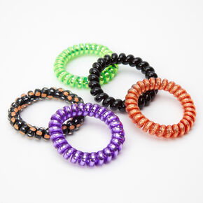Halloween Spiral Hair Bobbles - 5 Pack,