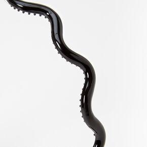 Solid Wave Spiked Headband - Black,
