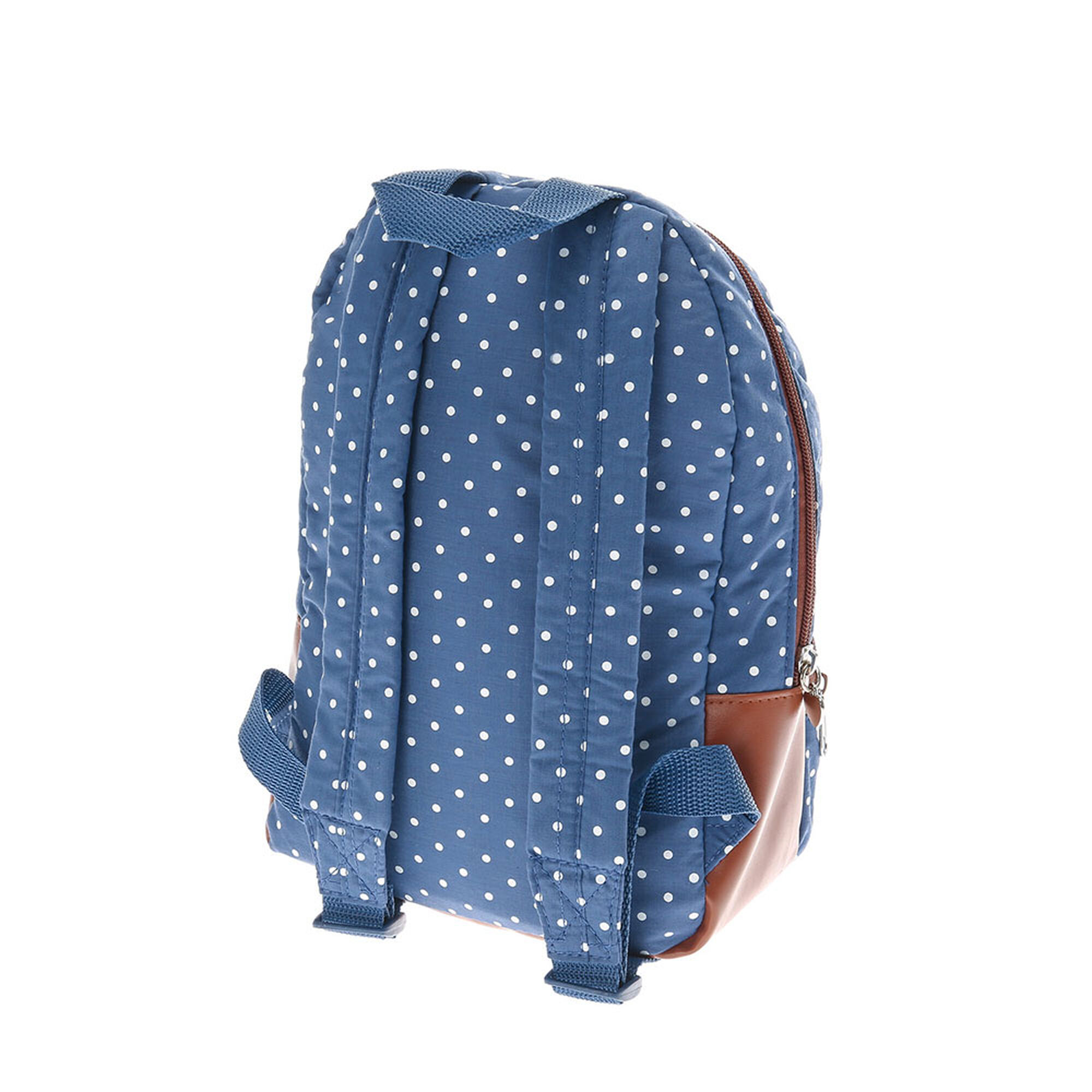 3cc30356cbdc Kids White Polka Dot Blue Backpack Claire S Us