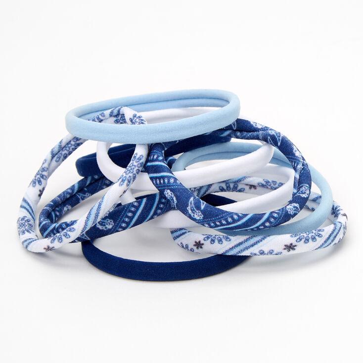 Prairie Blues Rolled Hair Ties - 10 Pack,
