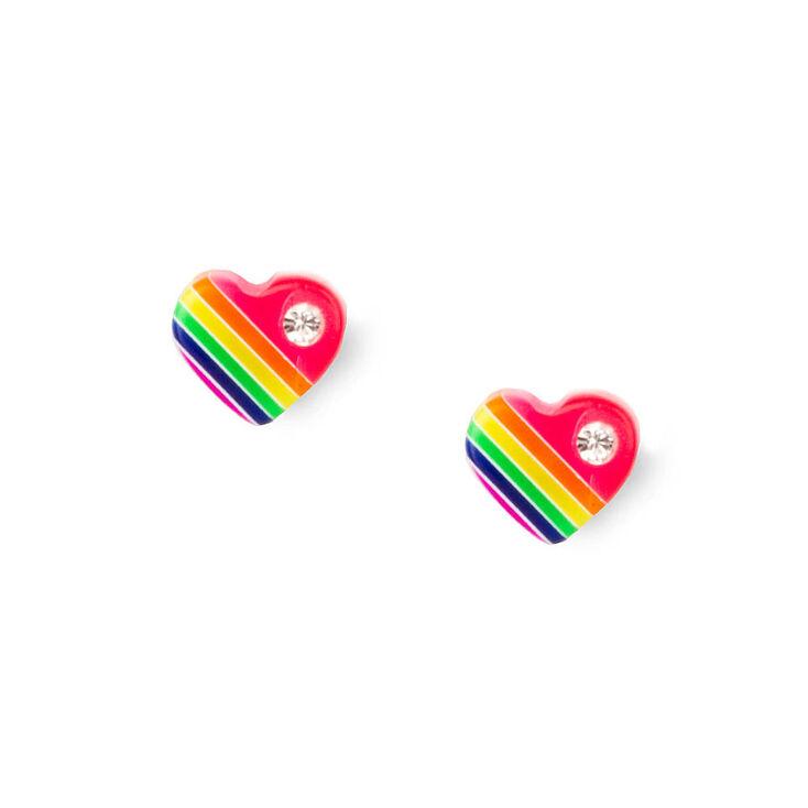 Sterling Silver Chasing Rainbows Stud Earrings,