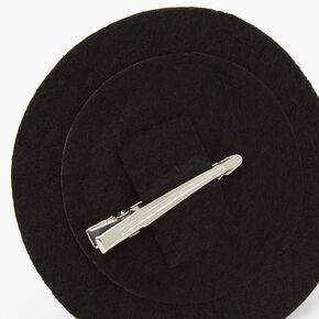 Barrette chapeau de sorcière à paillettes Halloween - Noir,