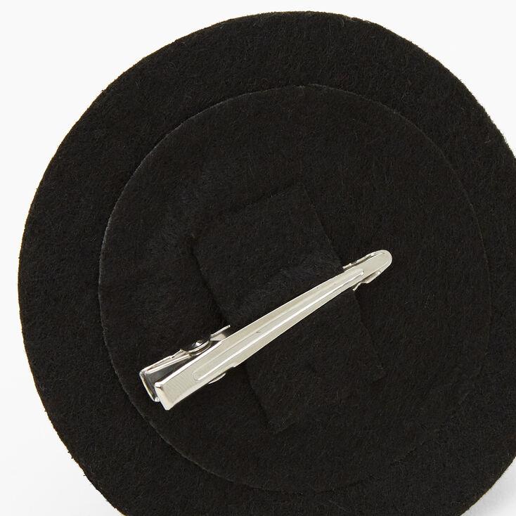 Halloween Glitter Witch Hat Hair Clip - Black,