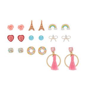 Favorite Things Stud Earrings - 9 Pack,