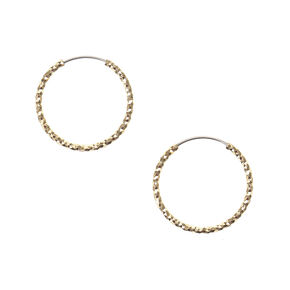Gold Laser Cut 20MM Hoop Earrings,
