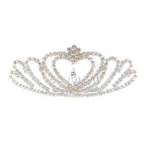 Crystal Heart Tiara Comb,