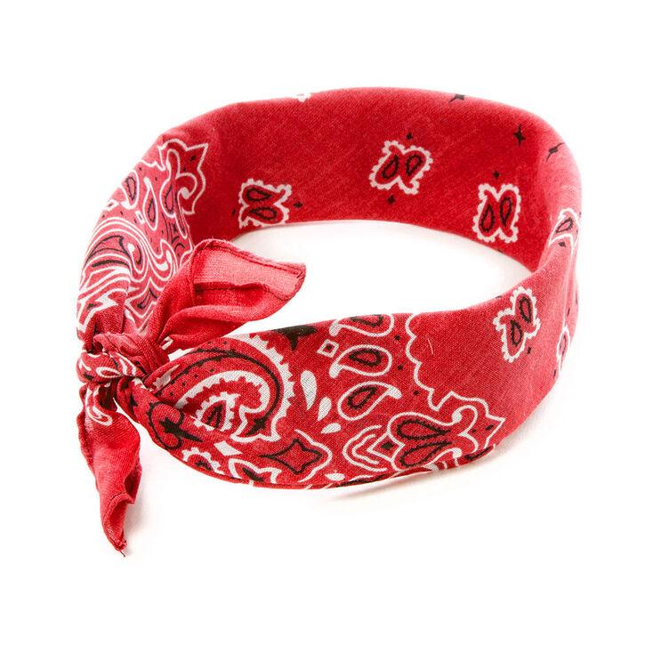 Red Paisley Bandana Headwrap  e0201d77e11