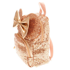 Disney© Minnie Mouse Sequinned Minnie Backpack - Rose Gold 8d5ba8a067fe2