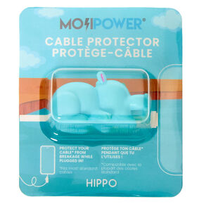 MojiPower® Hippo Cable Protector - Blue,