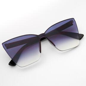 Faded Shield Sunglasses - Black,
