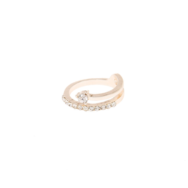 Rose Gold Delicate Stone Wrap Toe Ring,