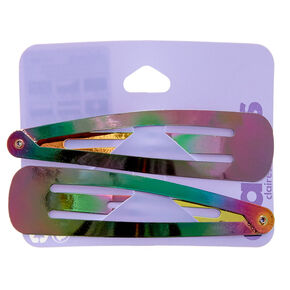 Anodized Jumbo Hair Snap Clips - 2 Pack,