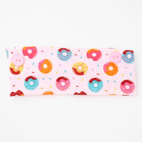 Donut Print Button Headwrap - Pink,