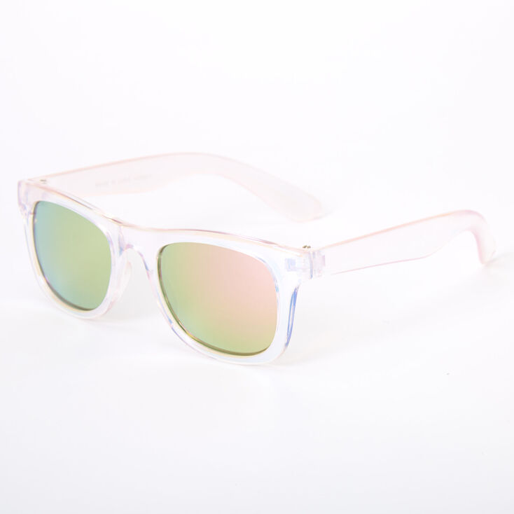 Claire's Club Iridescent Retro Sunglasses - Pink,