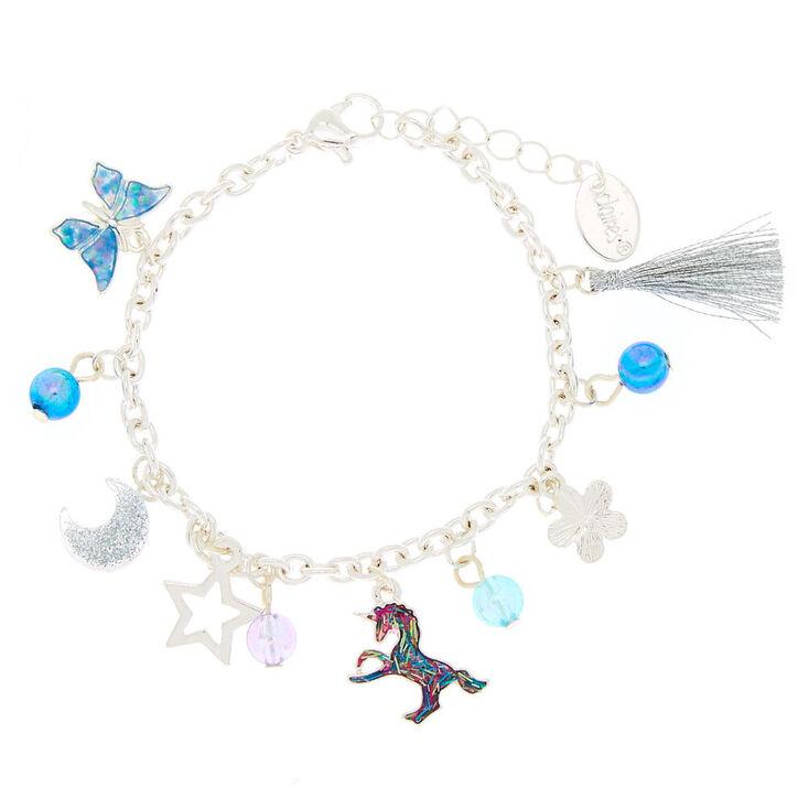 Bracelet à breloque bleu nature cosmique,