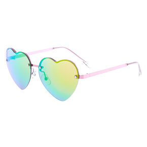 6c9d2d8154 Claire s Club Crystal Heart Shaped Sunglasses - Pink