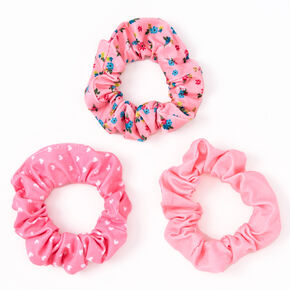 Claire's Club Small Floral Heart Hair Scrunchies - 3 Pack,