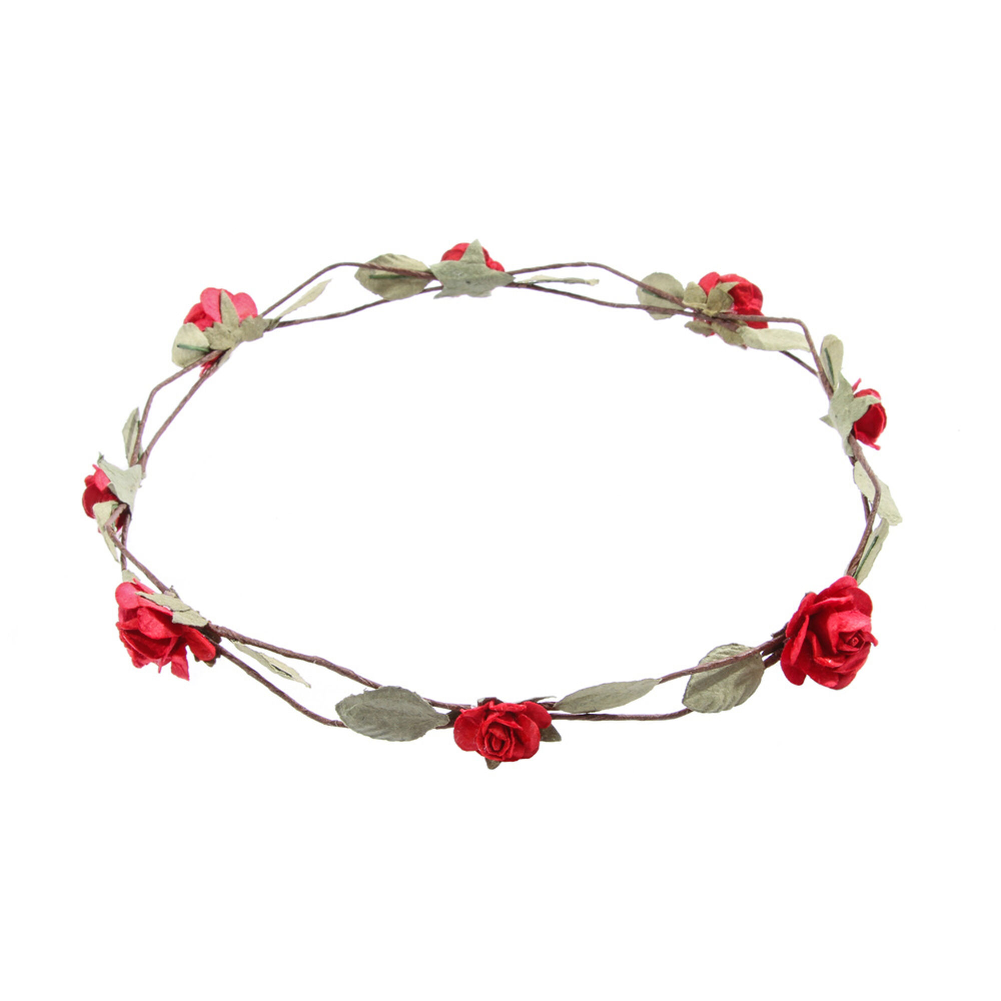 Red paper roses flower crown claires us red paper roses flower crown izmirmasajfo