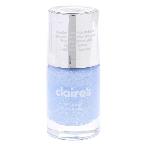 Claire's - pastel glitter sand nail polish - 1