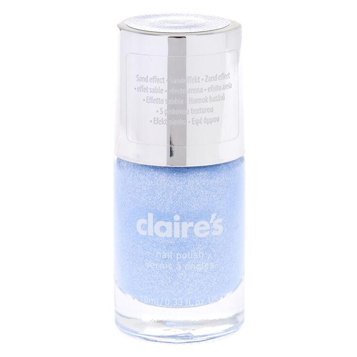 Blue Pastel Glitter Sand Nail Polish