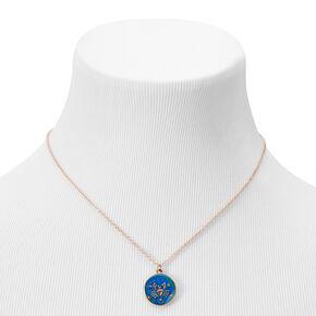 Gold Zodiac Mood Pendant Necklace - Cancer,