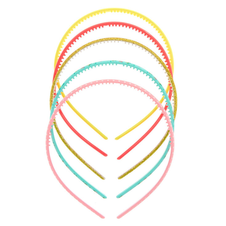 Claire's Club Thin Headbands - 5 Pack,