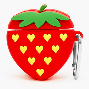 Strawberry Silicone Earbud Case Cover - Compatible with Apple AirPods®,