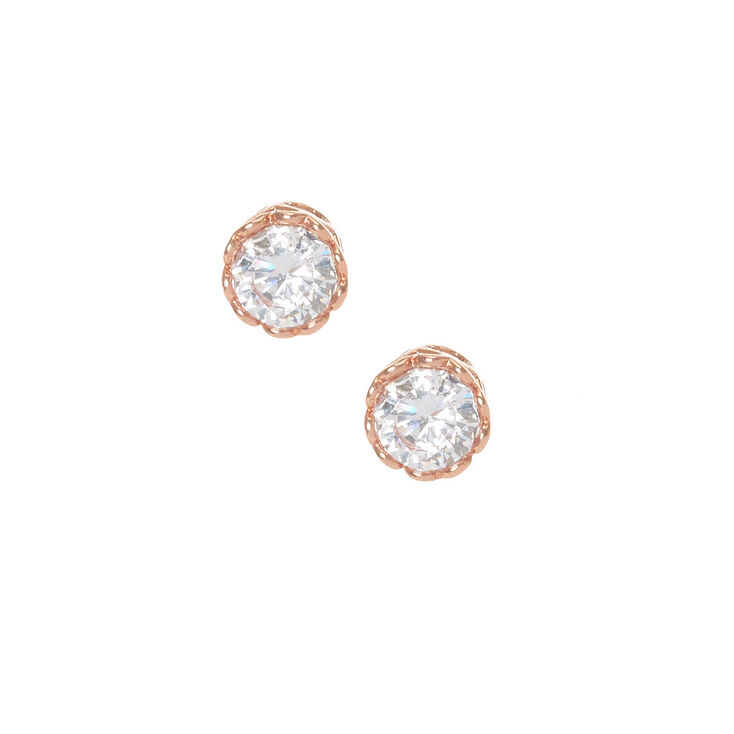 18kt Gold Plated Crystal Stud Earrings,