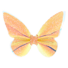 Holographic Butterfly Hair Barrette - Pink,