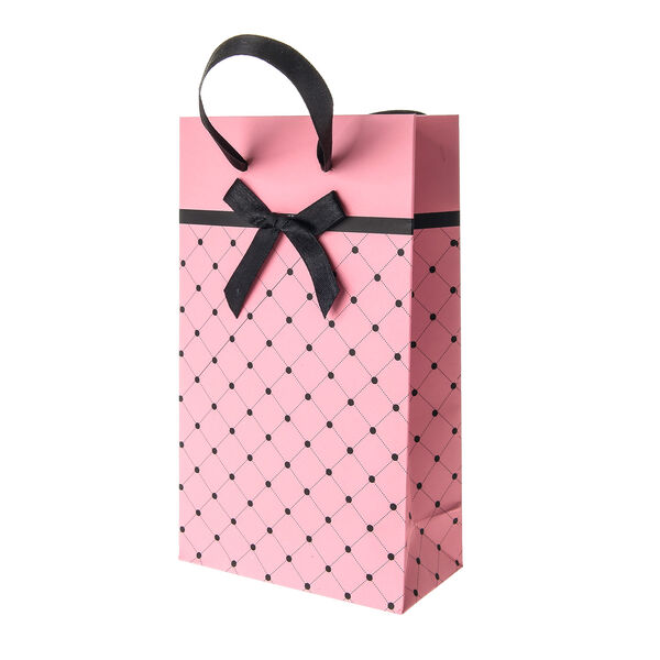 Claire's - small spotted gift bag - 1