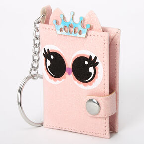 Penelope the Owl Mini Diary Keychain - Pink,