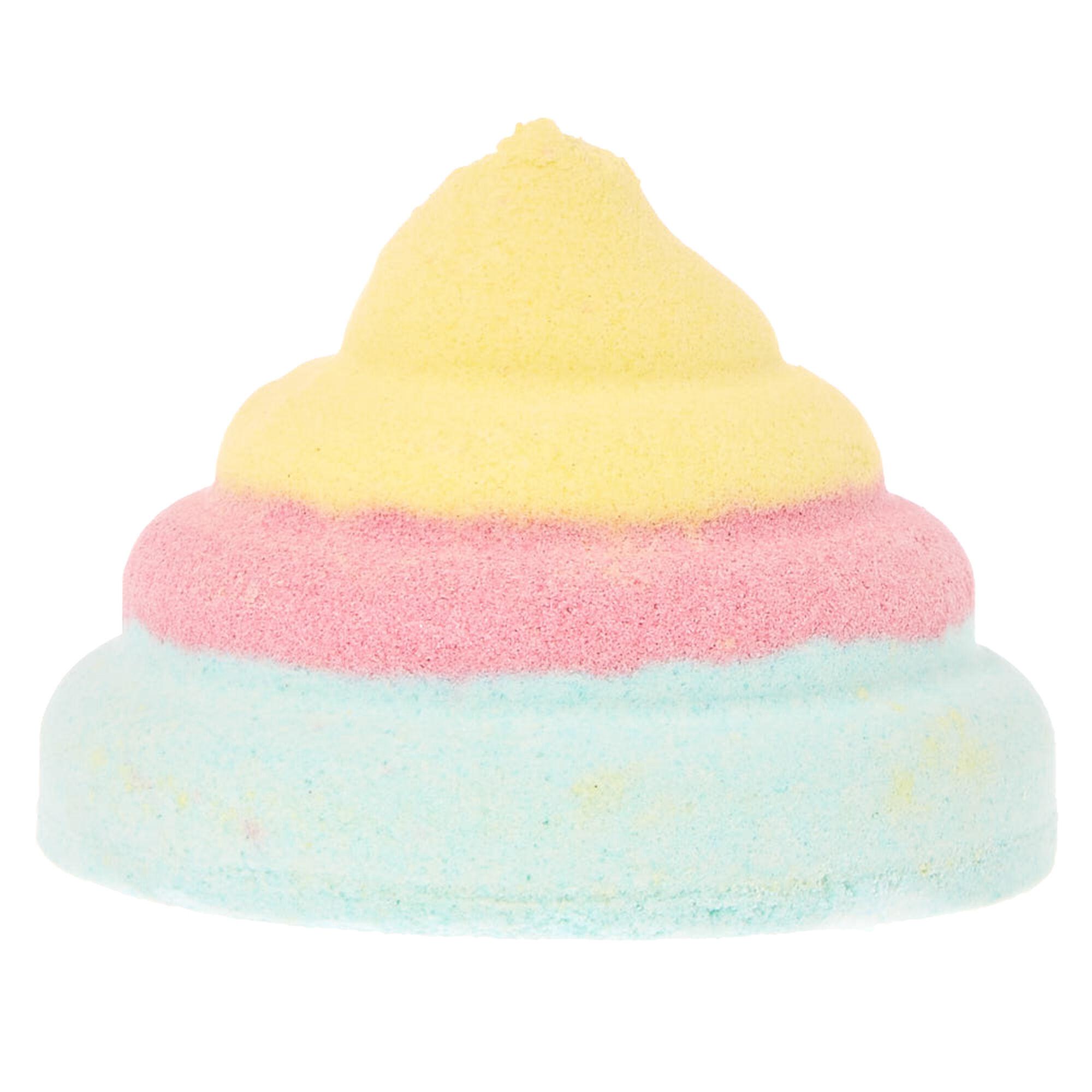 Rainbow Unicorn Poo Strawberry Scented Bath Bomb | Claire\'s US