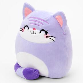 "Squishmallows™ 12"" Claire's Exclusive Cat Plush Toy - Purple,"
