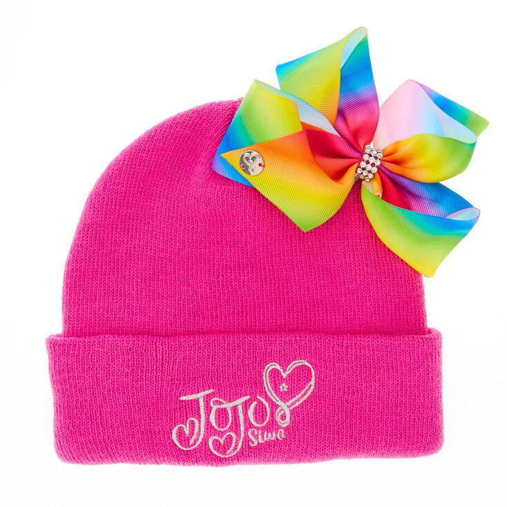 JoJo Pink Bow Beanie Hat  f8c57b5c9f2