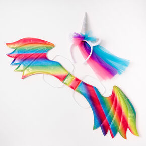 Rainbow Pegasus Wings & Headband Costume Set,