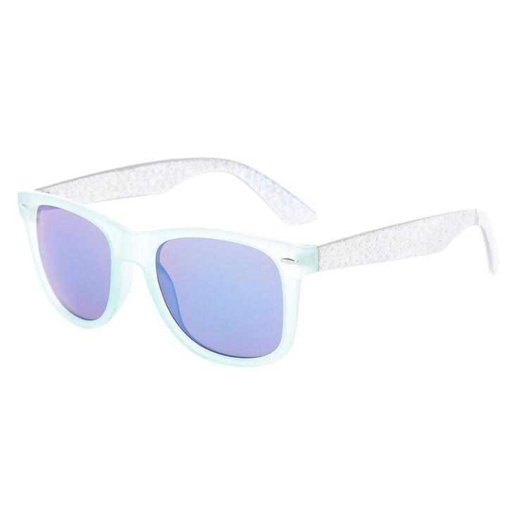 69e40627c227 Claire s Holographic Retro Sunglasses - Mint
