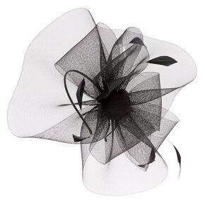 Feather Swirl Fascinator Headband - Black,