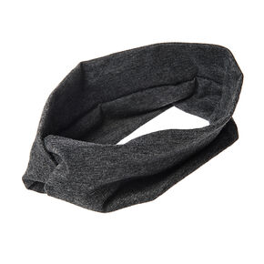 Wide Jersey Twisted Headwrap - Charcoal,