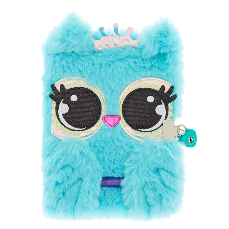 Luna the Owl Soft Lock Notebook - Mint,