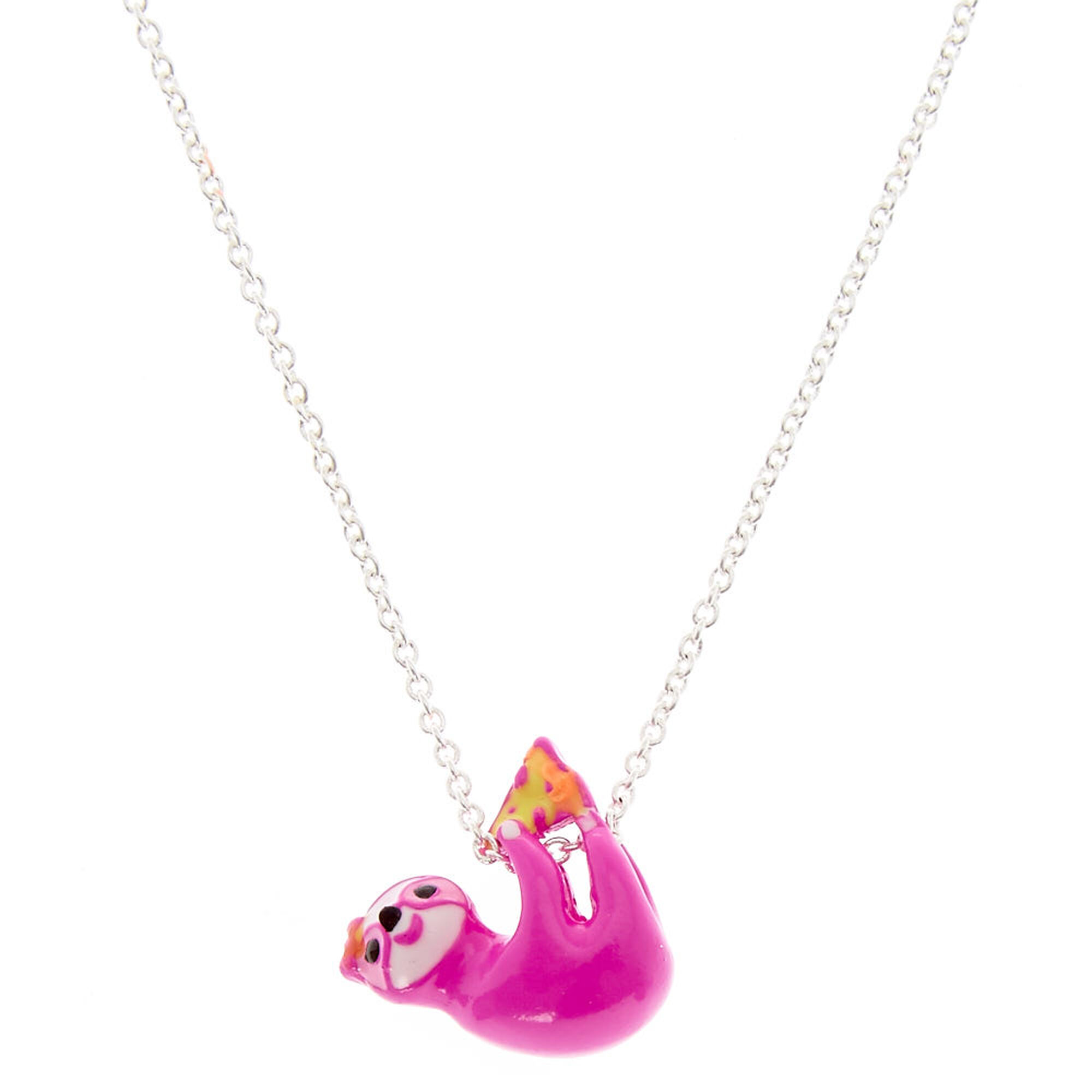 in silver derpy products sloth statement shaped adorable necklace pendant