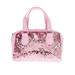 Claire S Club Reversible Sequins Handbag Pink