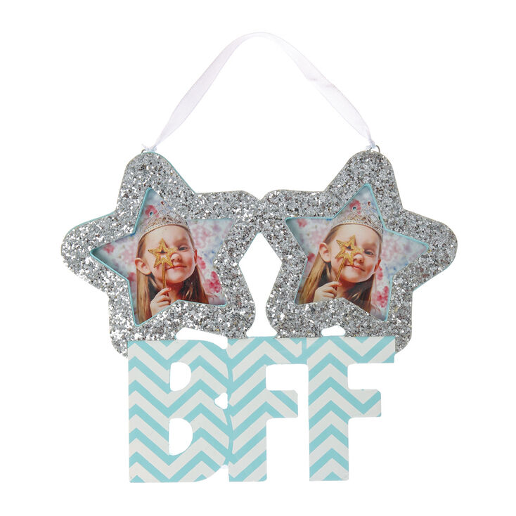 Best Friends Silver Glitter Star BFF Photo Frame Wall Hang | Claire\'s US