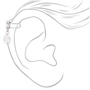 Silver Tree of Life Charm Ear Cuff,