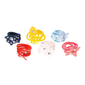 Claire's Club Flower Mini Hair Bobbles - 30 Pack,