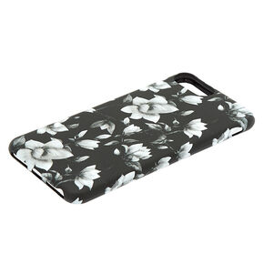 Black & White Floral Phone Case - Fits iPhone 6/7/8/SE,