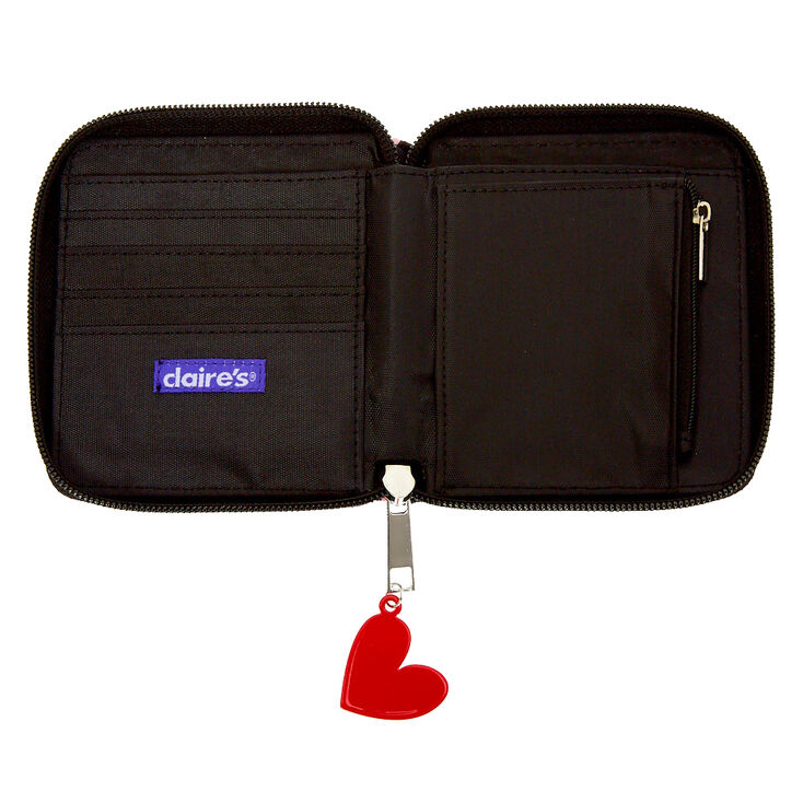 Love Story Mini Zip Wallet - Black,