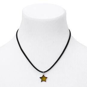 Collier d'humeur à pendentif en cordon étoile couleur argentée - Noir,