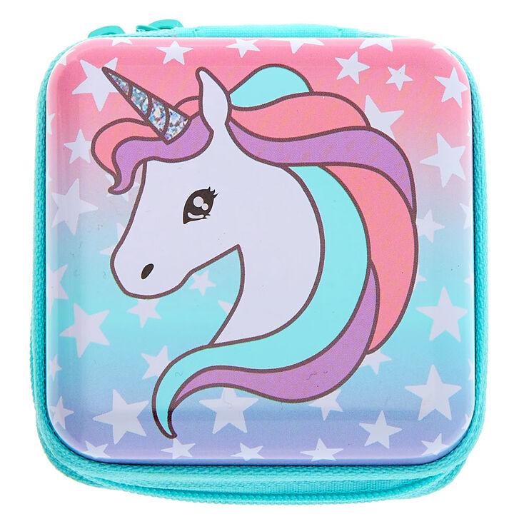 Claire's Club Miss Glitter the Unicorn Mini Makeup Set - Mint,