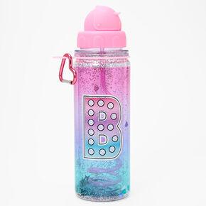 Initial Water Bottle - Pink, B,